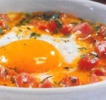Cazuelitas de huevos especiados