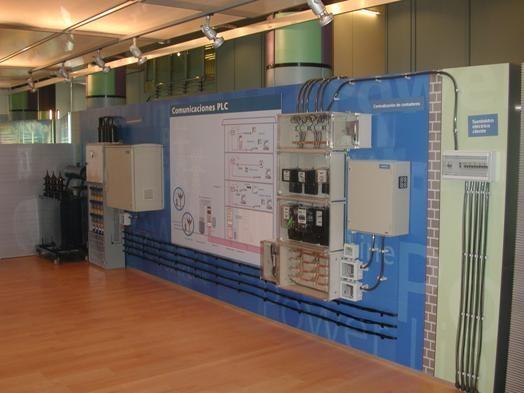 Maqueta de alguna instalación de PLC