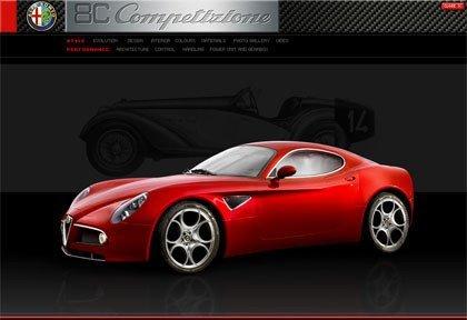 Alfa 8C Competizione, el sitio oficial
