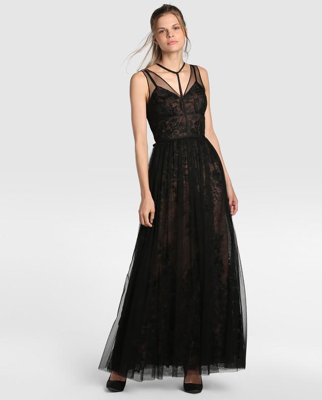 Vestido Rebajas Fiesta Negro Ci