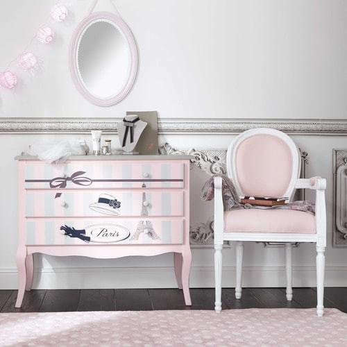 Comoda De Madera Rosa Maison