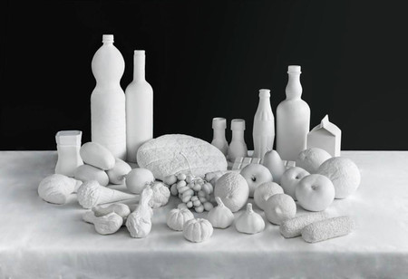 Comida de EsCultura: La comida de todo un año hecha escultura para concientizar sobre problemas de alimentación