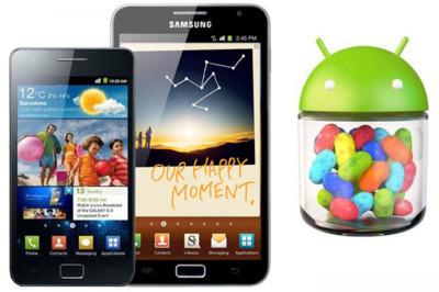 Samsung Galaxy SII y Galaxy Note podrían actualizar a Android 4.1.2 (Jelly Bean) en Enero