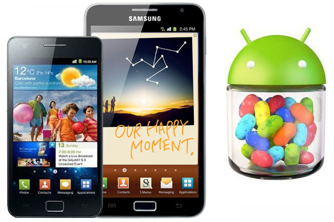 Samsung Galaxy SII y Samsung Galaxy Note