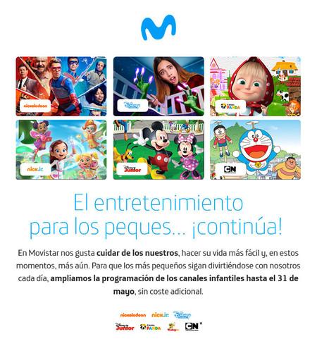 Canales infantiles gratuitos en Movistar+ Lite
