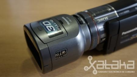 Panasonic X900 y su objetivo 3D