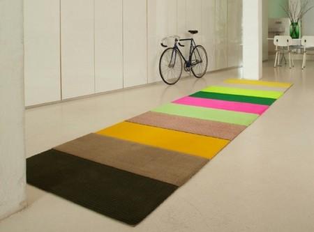 Stripes, alfombras que recuerdan las composiciones con washi tape