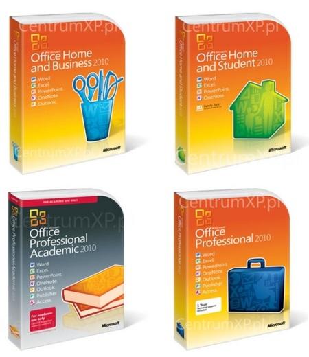 Al descubierto las cajas de las diferentes ediciones de Office 2010
