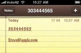 apple iphone text link