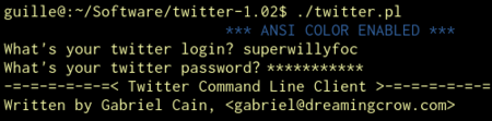 Twitter Command Line Client - Configurando la cuenta