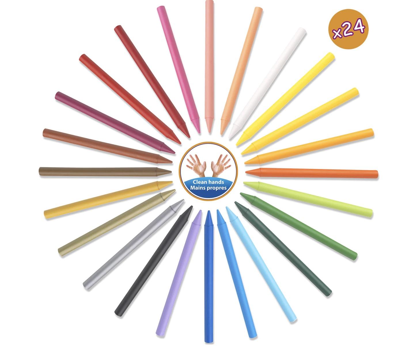 BIC  Caja 24 Ceras de Colores Plastidecor Bic