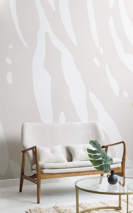 Papel Pintado Estampado Tigre Blanco Crudo Lifestyle Web