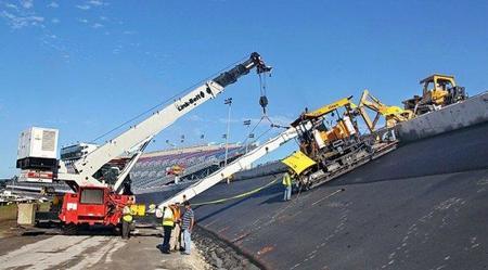 Así se asfalta el Daytona Speedway