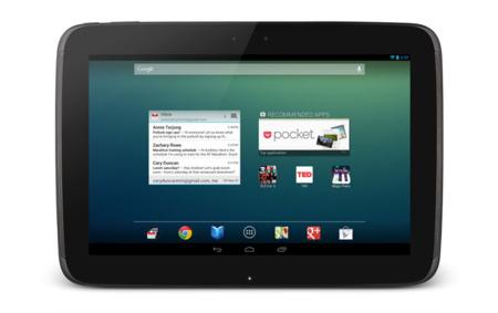 Nexus 10 de frente