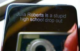 Mensajes curiosos grabados por láser en el iPod