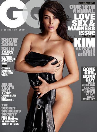 Kim Kardashian, una Eva al desnudo en portada de la revista GQ