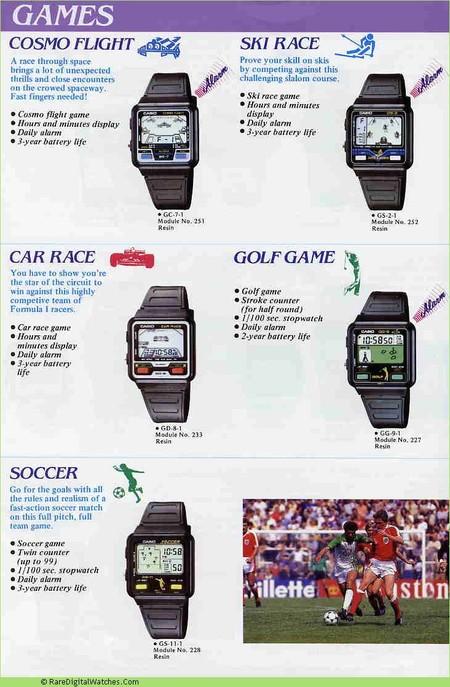 Casio Catalogo Relojes Juegos
