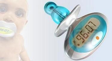 Chupete con termómetro