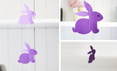 Guirnaldas decorativas de conejos para Pascua