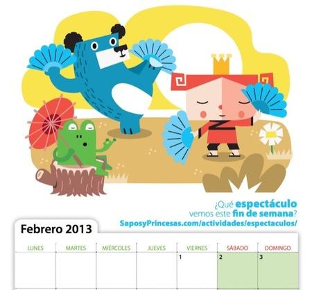 El calendario de Sapos y Princesas para el curso escolar 2012-2013