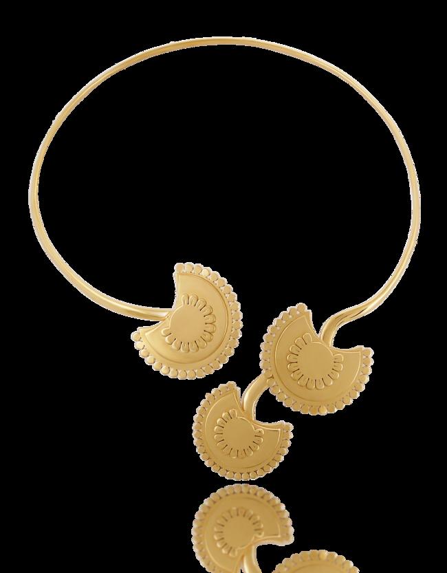Collar Boho Flower Vermeil Oro Amarillo 455 Eur