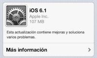 iOS 6.1 ya disponible sin grandes novedades.