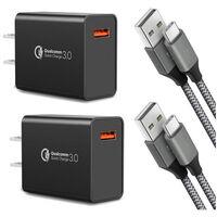 Este paquete de dos cargadores con Qualcomm Quick Charge 3.0 y cables USB tipo C está de oferta, 320 pesos en Amazon México