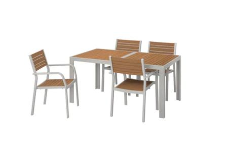 Mesa y sillas para terraza y jardín
