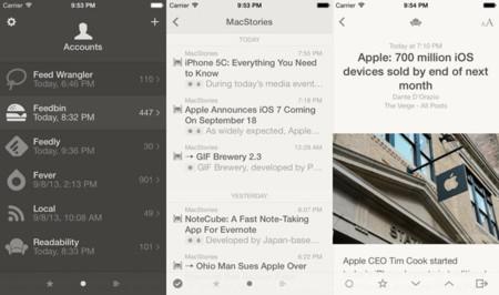 Reeder 2 se lanza en la App Store adaptado a un mundo sin Google Reader y con iOS 7