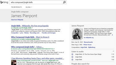 Microsoft sigue mejorando su buscador Bing, al menos en Estados Unidos