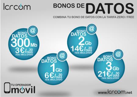 Nuevos bonos de datos prepago LCRcom
