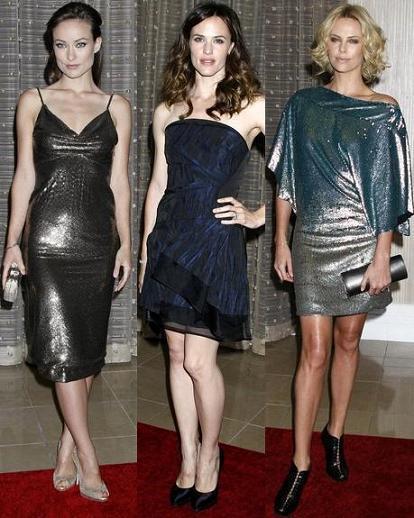Trío de guapas en los premios de cine americano: triunfan los vestidos de brillos