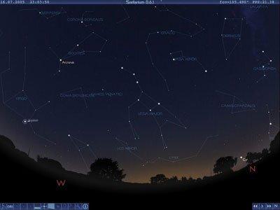 Stellarium, el cielo en tu ordenador