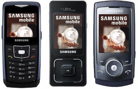 Samsung F300, U100 y U600