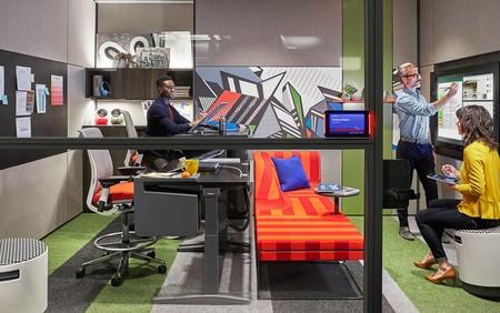 Así serán los nuevos espacios creativos de trabajo ideados por Steelcase y Microsoft