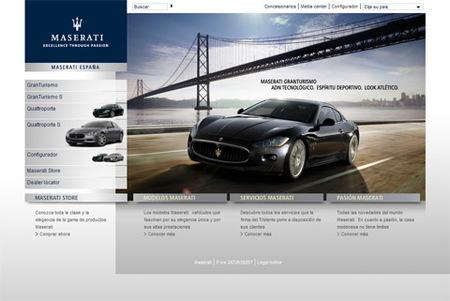 La Web de Maserati, ya en castellano