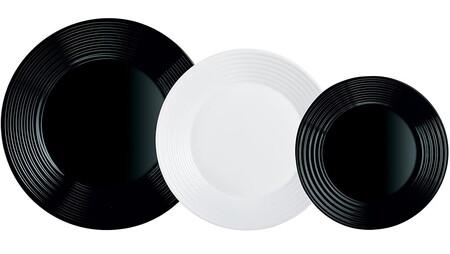 Vajilla en blanco y negro