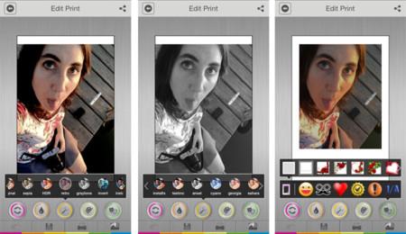 Edición en la app Polaroid Zip
