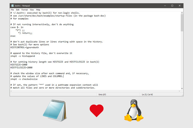 Notepad Linux