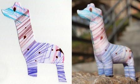 Dibujo escultura Crayon Creatures