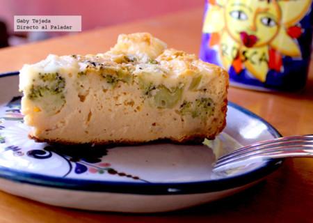 Receta: Budín de garbanzo y brócoli con yogurt y mozzarella