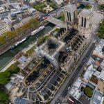 El daño de Notre Dame a vista de drone en esta impresionante fotografía de 1.000.000.000 píxeles