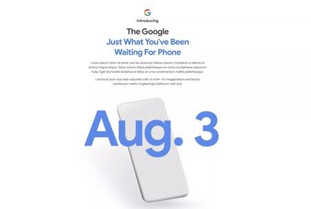 La web oficial de Google anuncia un nuevo Pixel para el próximo 3 de agosto