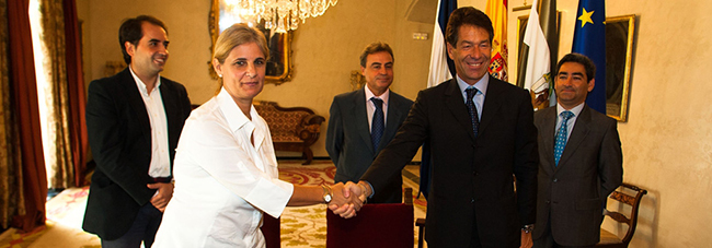 Paolo Flammini junto a María José García
