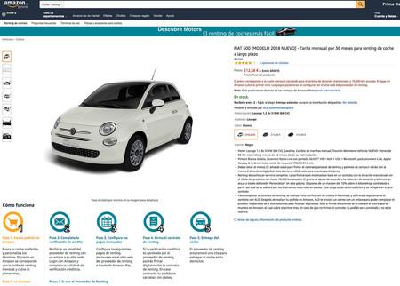 Fiat 500 Renting Amazon