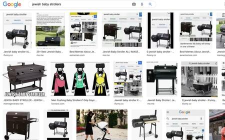 Cochecitos de bebé judíos: los resultados de búsqueda de imágenes que han puesto a Google en un nuevo apuro