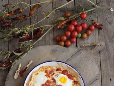 Huevos picantes al horno a la mexicana. Receta