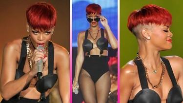 Rihanna sorprende en Madrid con un nuevo look