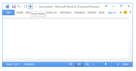 Las aplicaciones de Office 15 incluirán un modo para pantallas táctiles