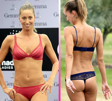Gemma Mengual sensual modelo de lencería